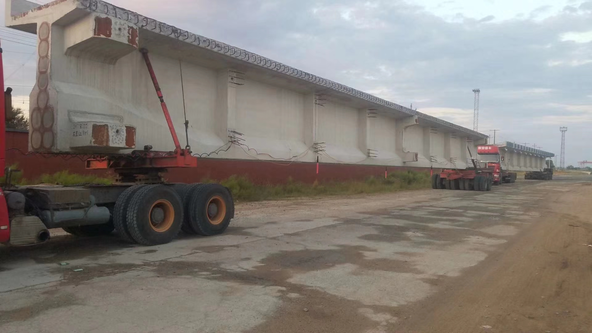 Concrete Bridge Transporter Self-steering Trailers For Beams